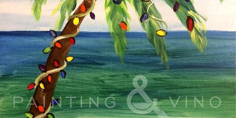"""Recreate this festive palm tree at the beach painting, """"Tropical Christmas"""" tickets"""