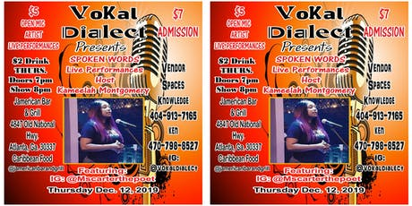 Vokal Dialect Open Mic Live Performances tickets