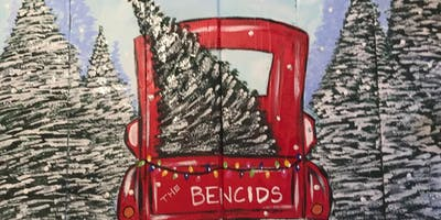 Christmas Truck Pallet Paint Party