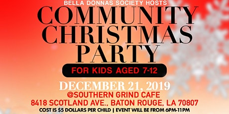 Bella Donnas Society  Community Christmas Party tickets