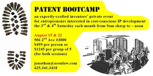 August Seattle Patent Bootcamp