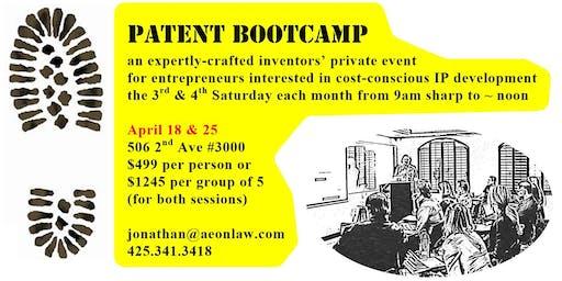 April Seattle Patent Bootcamp