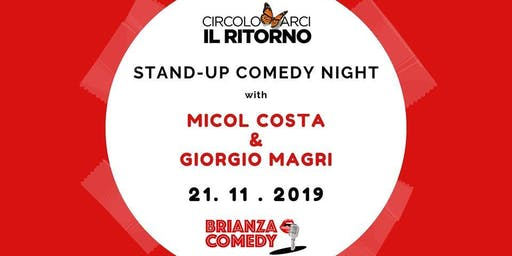 Stand-up Comedy Night with Micol Costa & Giorgio Magri a Seregno
