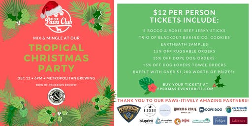 For Paws Club Tropical Christmas Party Benefiting Felines & Canines