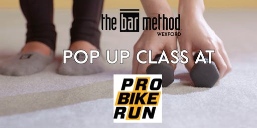 Bar Method Pop-Up Class at Pro Bike + Run North Park