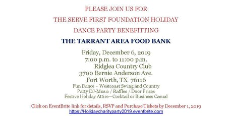 Holiday Dance Party benefitting the Tarrant Area Food Bank tickets