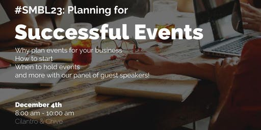 SMBL 23: Planning a Successful Event