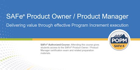 SAFe® Product Owner/Product Manager Certification Training in Ottawa, Canada tickets