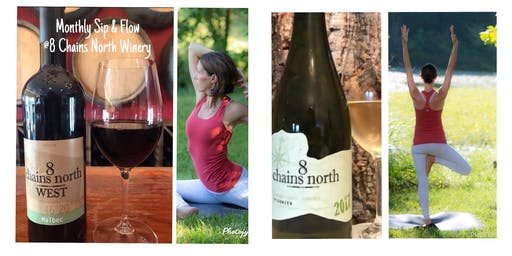 Sip and Flow:  Yoga at 8 Chains North Winery
