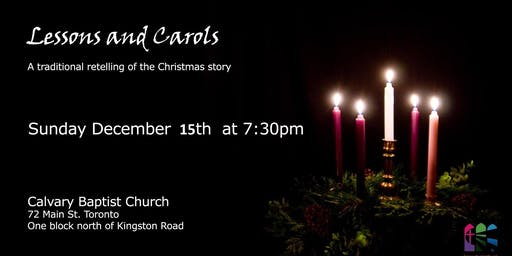 2019 Christmas -  Candle Light Carols and Readings