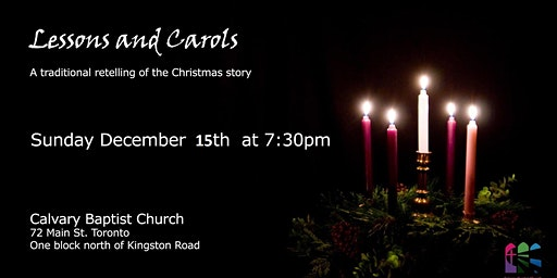 2019 Christmas -  Candle Light Carols and Readings