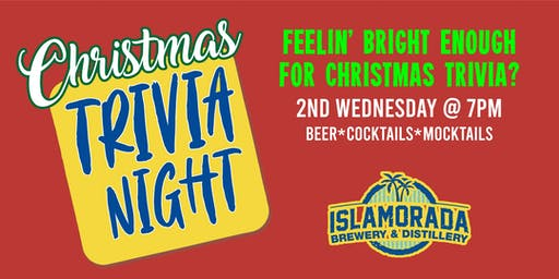 Christmas Trivia Night at Islamorada Brewery & Distillery