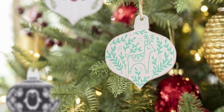 DIY Chalk Board Ornaments tickets