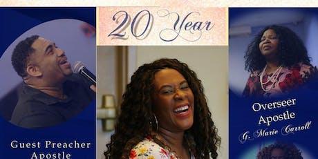Apostle Maureen Manoly 20Year Anniversary service tickets