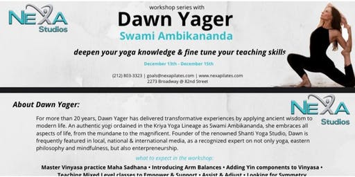 Continuing Education Yoga Workshop With Dawn Yager