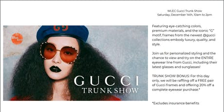 Gucci Trunk Show tickets