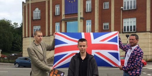 Lee Sibley, 'Pro-Brexit Protest Demanding EU banner removed from Ecotricty
