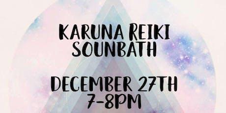 Karuna Reiki Sound Bath tickets