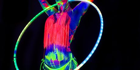 HULA HOOP SPECIAL! Neon Naked Life Drawing @Trapeze Bar! tickets