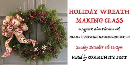 Holiday Wreath Making Class at Community Pint