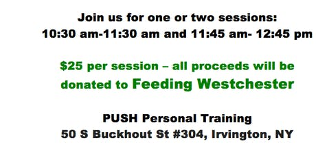 BOOT CAMP + YOGA (to benefit Feeding Westchester) tickets
