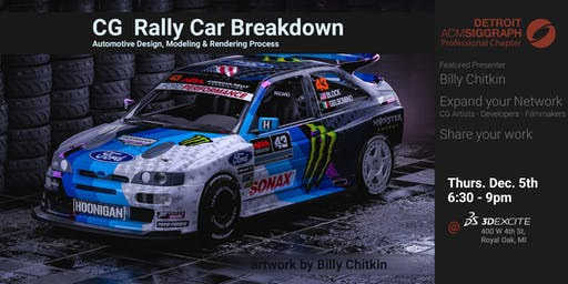 CG Rally Car Breakdown Presentation @ 3DExcite Dec 2019