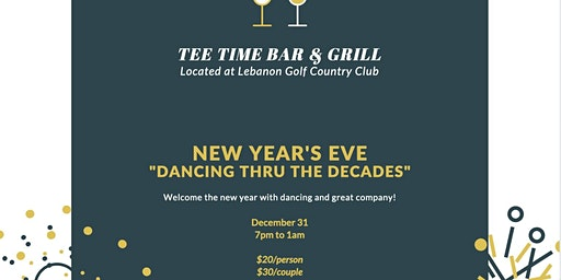 """New Year's Eve """"Dancing thru the Decades"""""""