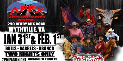 Wytheville VA  Professional Bulls Broncs and Barrels