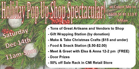 Holiday Pop Up Shop Extravaganza tickets