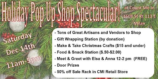 Holiday Pop Up Shop Extravaganza
