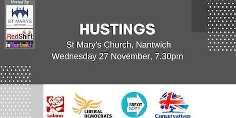 HUSTINGS - Crewe & Nantwich Constituency  tickets