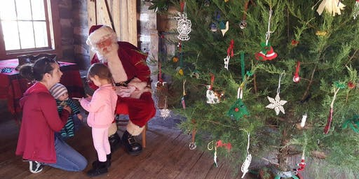 Photos with Santa in his cabin!