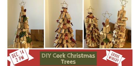 DIY Cork Christmas Trees