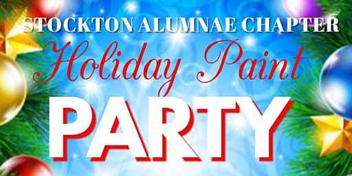 Stockton Alumnae Chapter Holiday Paint Party