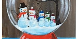 Snow globe painting at The Well on 12-14