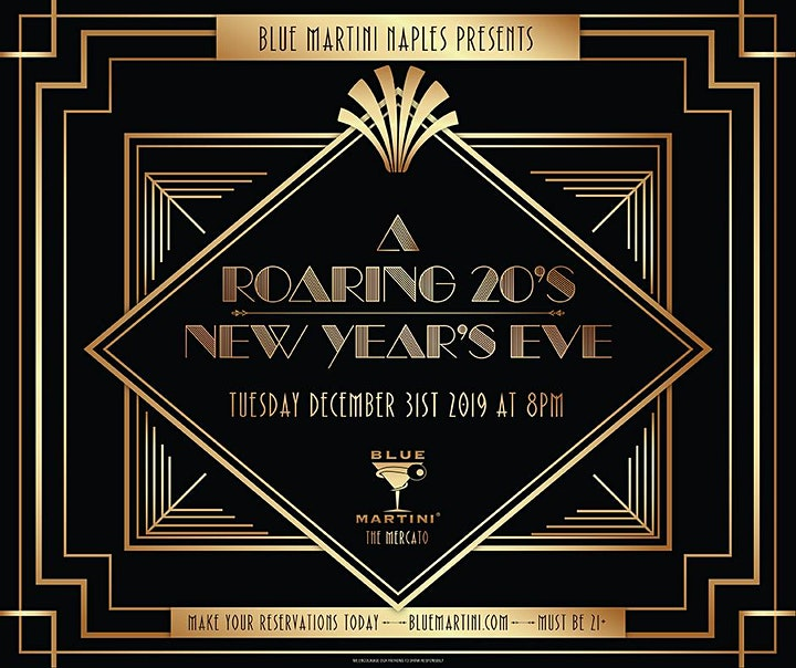 Blue Martini Naples Roaring 20's New Year's Eve 2020! image