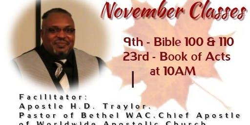 MINISTRY TRAINING COLLEGE, BIBLE BASICS AND BOOK OF ACTS
