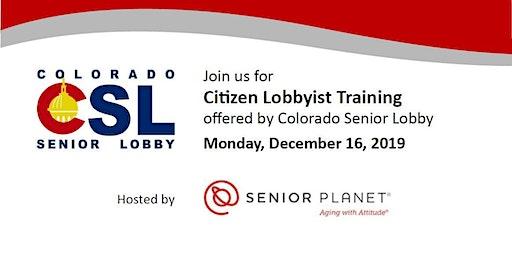Citizen Lobbyist Training with Colorado Senior Lobby