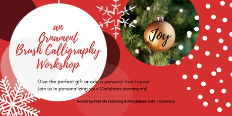 Holiday Ornament Brush Lettering Workshop tickets
