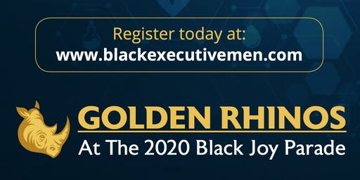 Golden Rhinos at the Black Joy Parade