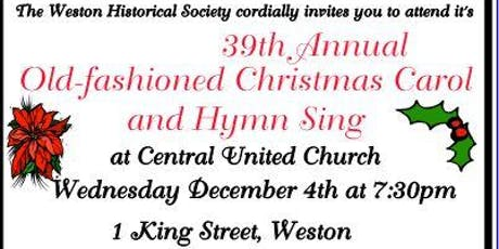 39th Annual old-fashioned Christmas Carol and Hymn Sing tickets