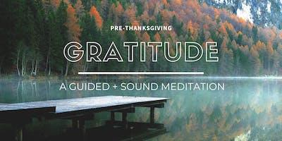 Gratitude: A Guided + Sound Meditation