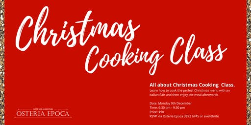 Christmas Cooking Class - December 2019