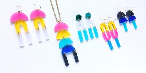DIY Jewelry Bar @ 9000things - Make Your Own Custom Geometric Earrings!