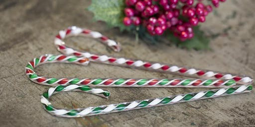 Glass Blowing Holiday show featuring Glass Candy Canes and Snowmen