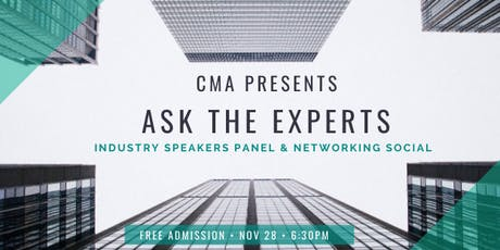 Ask the Experts: Industry Speakers Panel and Networking Social tickets