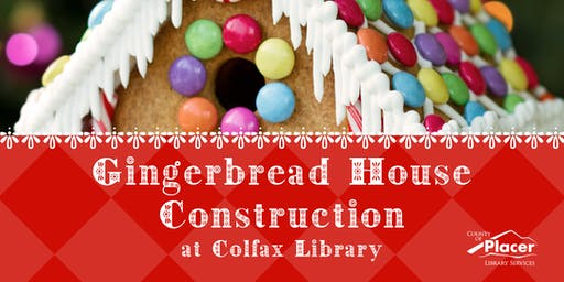 Gingerbread House Construction at Colfax Library 1