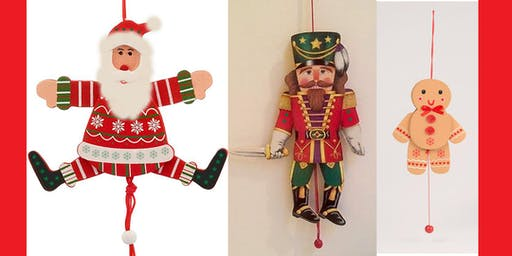 KINETIC TOYS AND SCULPTURE SERIES-JUMPING JACK PULL TOY HOLIDAY PUPPET