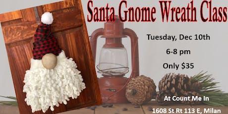 Santa Gnome Wreath Class tickets
