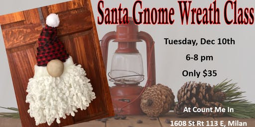 Santa Gnome Wreath Class